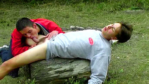 Nice Lookng Twinks Enjoy Fucking Outdoors After Picnki Party