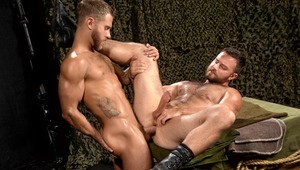 Shawn rides burly Heath's hole using his jockstrap as reins