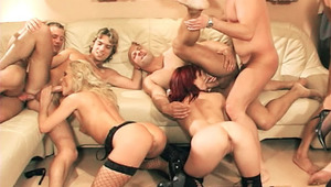 Ten hot dudes and chicks in hot orgy action here with toys