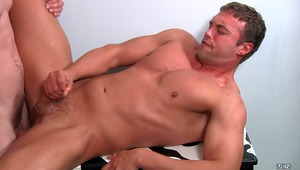 Rocco Reed tags along on a date with Jimmy Johnson & his girl. Rocco's hotness turns Jimmy's date into the third wheel and she finds herself sitting alone at the table while the guys get naked in the bathroom. Rocco Bends over and gets fucked by Jimmy's s