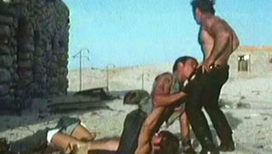 3 horny males fooling around & blowing penises in vintage video