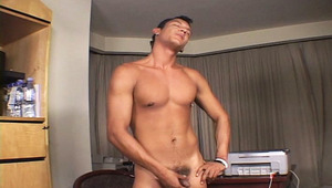 Amazing latino wanking his penis off after a hard day's work