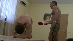 sweet gay must receive masters lusty batting in order to delight his horny senses in wild bdsm film.
