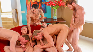 The 7 hottest guys in the house blast spunk 1 after another