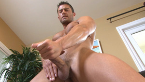 Cody gives a thorough stroking before unloading his balls!
