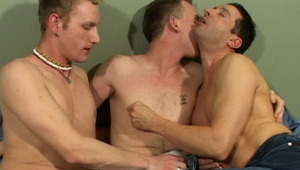 tasty gay Adam getting pumped by two impossible dicks