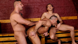 These three buddies likes muscles, tight holes & hard dongs