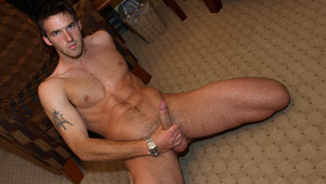 The young stallion slowly undresses and strokes his schlong!