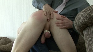 With twinks balls all tied upgay, boss takes delight in slapping twinks bottoms until it is stinging red in bdsm sex.