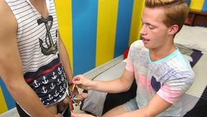 Ryker gives his friend Billy a very special present in this flip flop fuck
