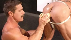 Join 3 horny buddies into the sex club for more action.