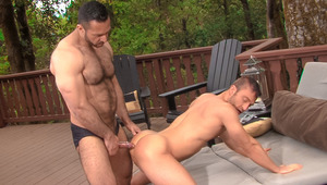 A secluded forest fills with JR's moans as Adam rams him