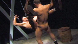 hairy hunk with a monstrous meat behind mounts horny lover in the butt