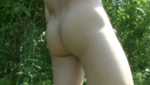 There is no stopping nude gay BF as he likes to masturbate outdoors.