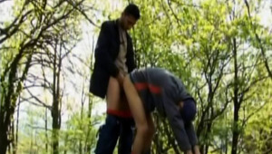 dude likes Fucking Hard A fine lover In The Woods