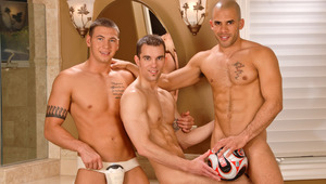 See these three studs taking some fun positions for the cameras.