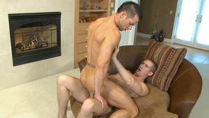 2 hunks are having a blast swallowing and fucking each other!