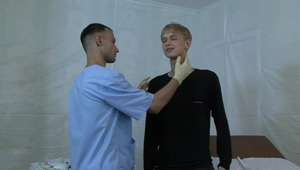 The heat is rising for teen twink as doctor thoroughly examines his teen body.