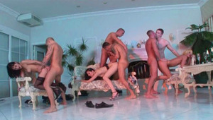 Bisexual hotties having sex for that dude's birthday party !