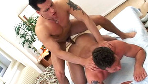Hot studs liking some intense bj and anal action